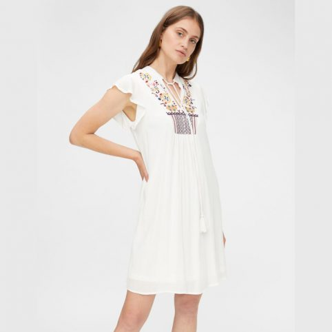 YAS Summer Embroidered Dress - Buy Online UK