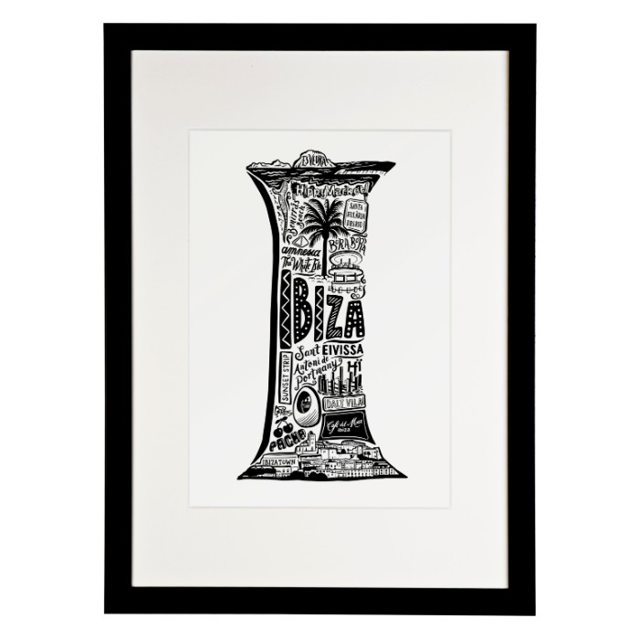 framed ibiza print - for the memories one of many prints from Lucy Loves This- for sale online with free UK delivery