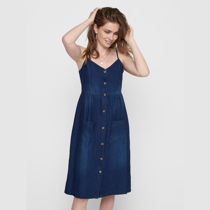 JDY Midi Denim Dress - Buy Online UK