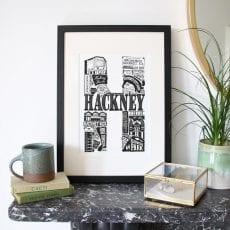 Framed Hackney Print - Buy Online UK