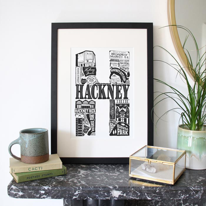 Framed Hackney Print - Buy Online UK