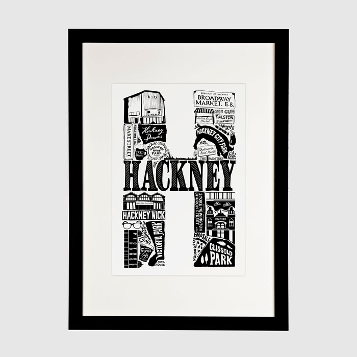 Lucy Loves This Hackney Print - Buy Online UK