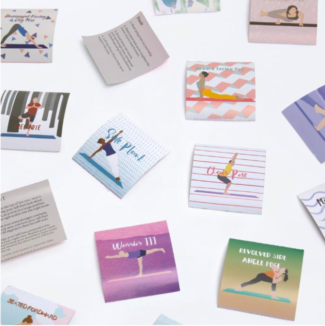 lessons learnt from summer 2020 30 day yoga challenge cards