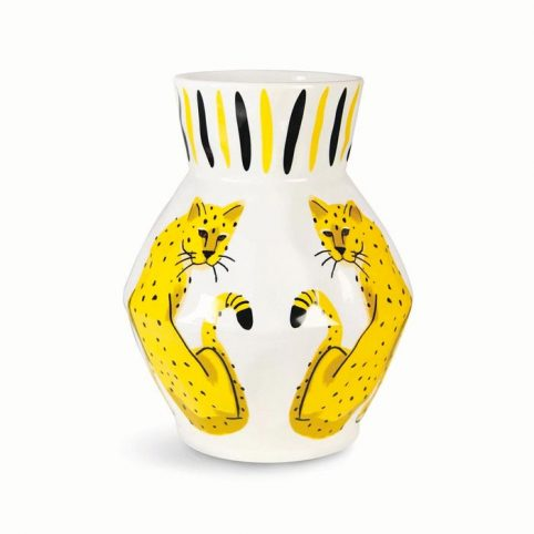 Leopard Vase - Klevering Buy Online With Free UK Delivery On Orders Over £20