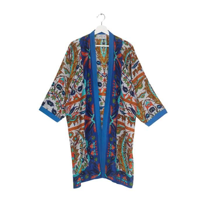 Collar Kimono One Hundred Stars In Decadent Blue Buy Online UK