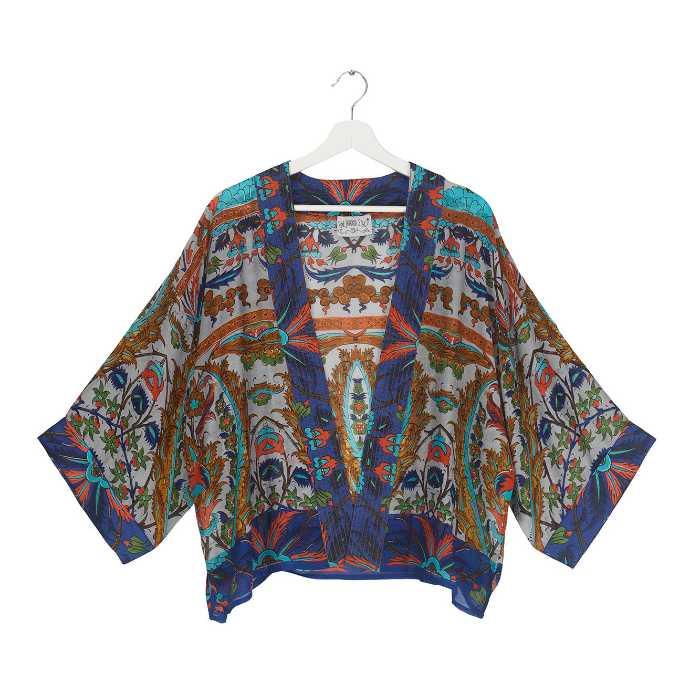 One Hundred Stars Kimono - Decadent Blue Buy Online UK