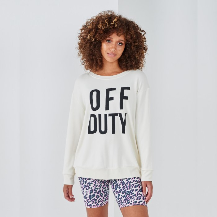 Sundae Tee Off Duty Sweat Top - Buy Online UK