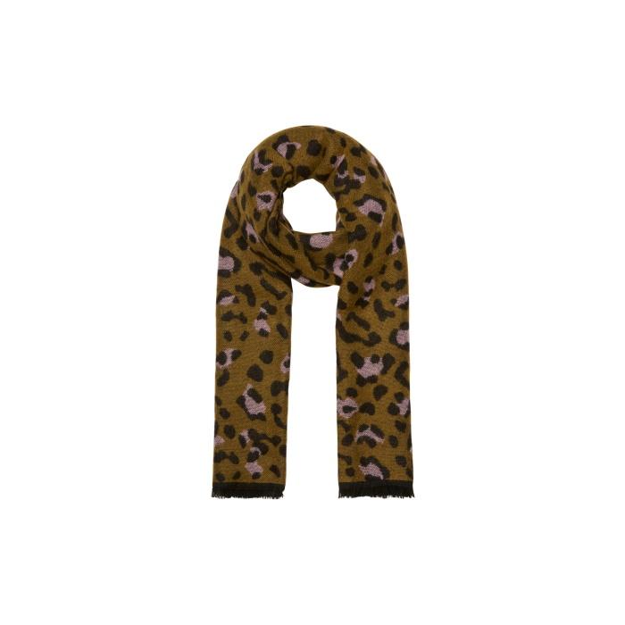vero moda leopard warm scarf