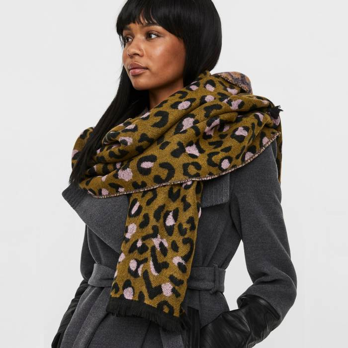 Leopard Print Scarf - Vero Moda. Buy Online UK