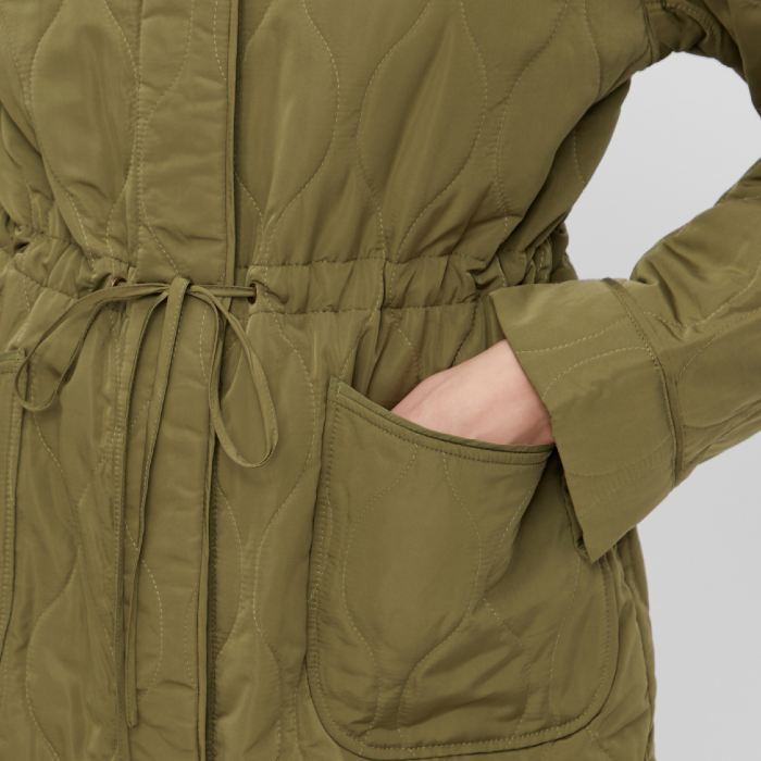 lightweight quilted jacket in olive green buy online source