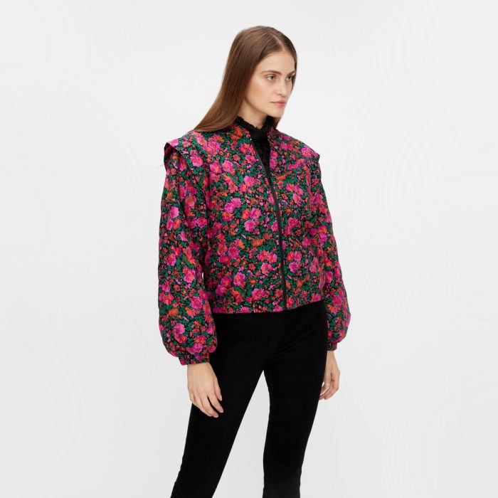 YAS Quilted Jacket - Floral Bomber Buy Online UK