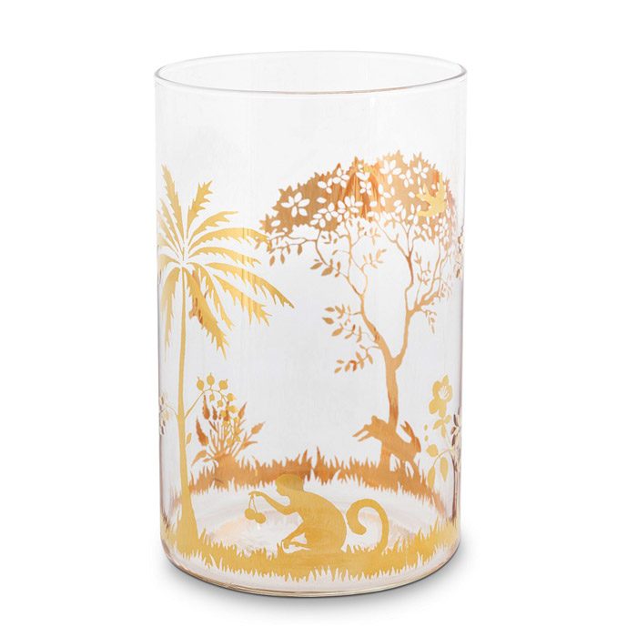 La Majorelle Tall Glass Gold - Buy Online UK