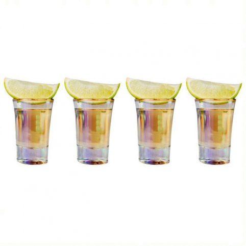 Iridescent Shot Glasses Set of 4 - Buy Online uK