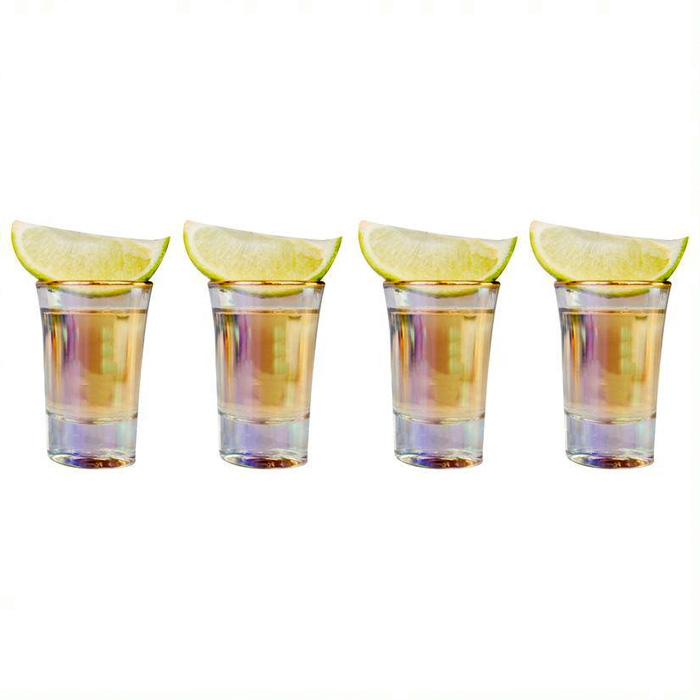 Iridescent Shot Glasses Set of 4 - Buy Online uK