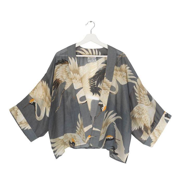 Stork Kimono One Hundred Stars in Slate Grey - Buy Online UK