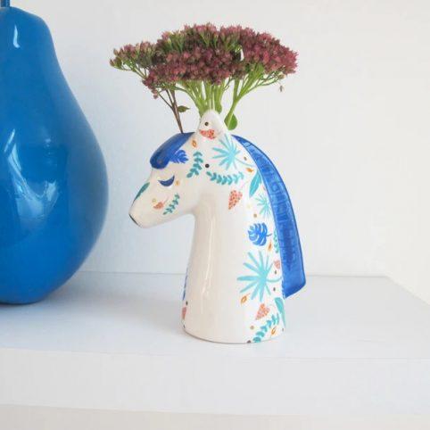 Floral Zebra Vase - Buy Online UK