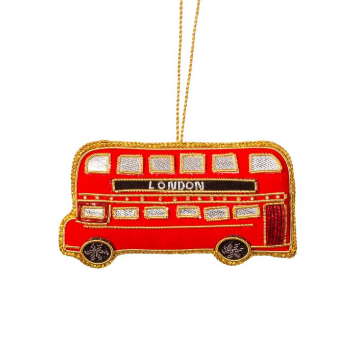 Embroidered London Bus Decoration - For Sale Online UK