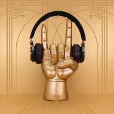 Gold Hand Headphone Stand - For Sale Online with free UK delivery over £20