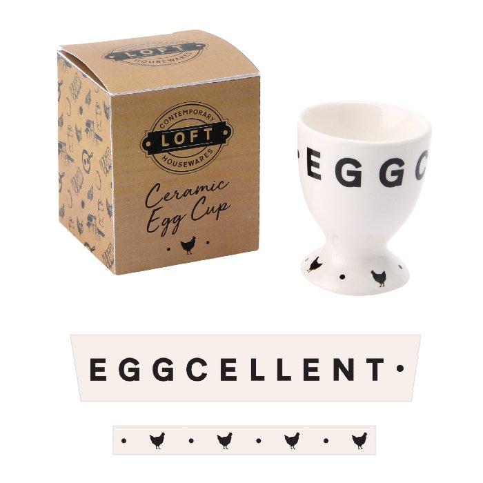 Loft 'Eggcellent' Ceramic Egg Cup