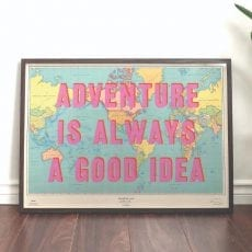 'Adventure Is Always A Good Idea' Scratch Map