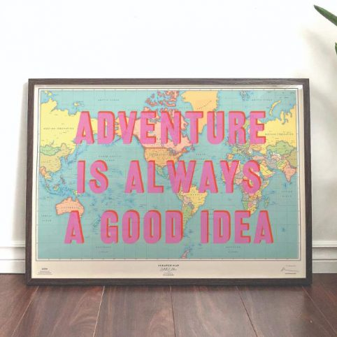 'Adventure Is Always A Good Idea' Scratch Map