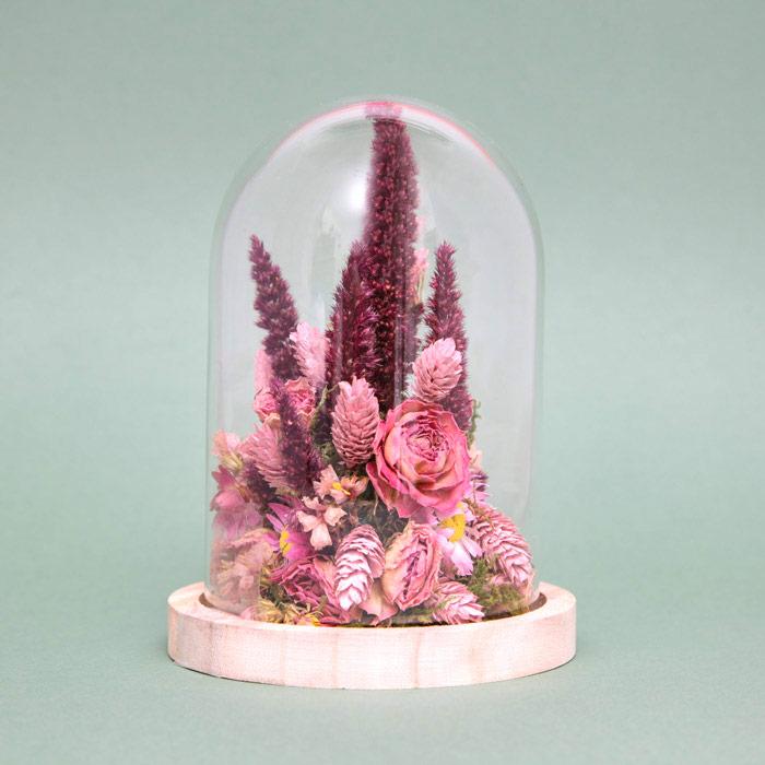 Dried Flowers Bouquet in Bell Jar - Buy Online UK