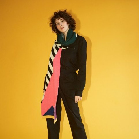 Miss Pompom Geo Scarf - Enjoy Free Delivery When You Buy Online
