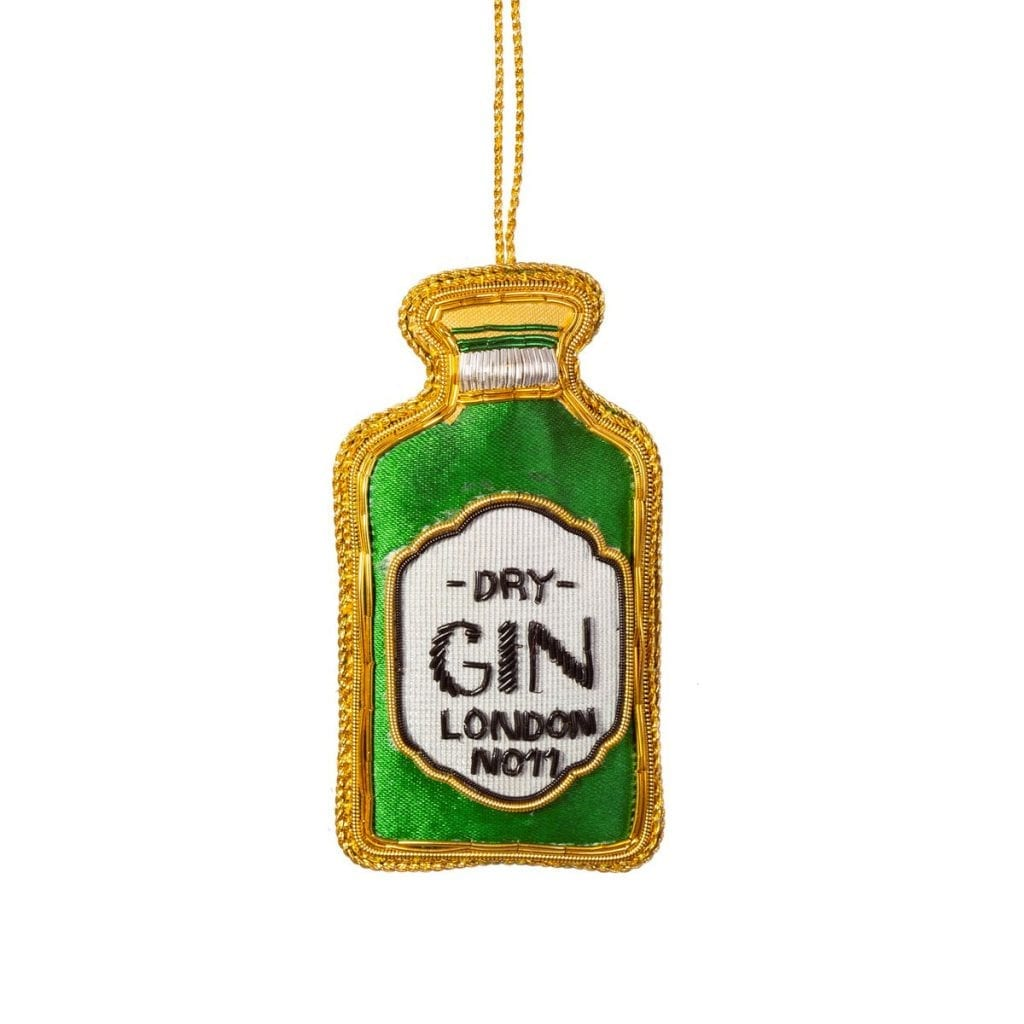 Embroidered Gin Christmas Tree Decoration - Buy Online UK