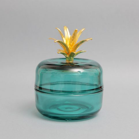 Temerity Jones Blue Glass Trinket Box - Buy online UK