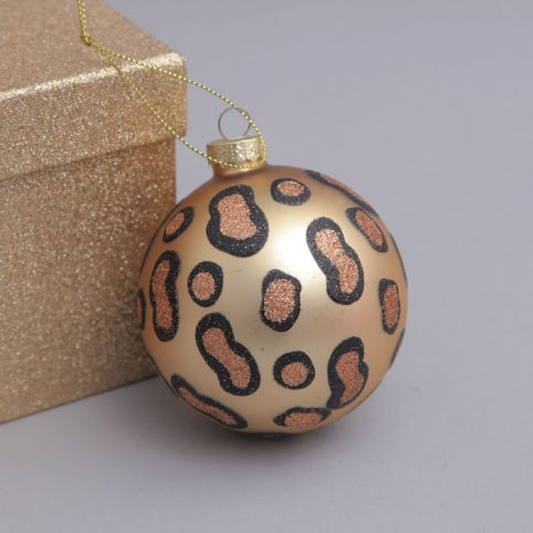 Leopard Print Christmas Decoration Buy Online UK