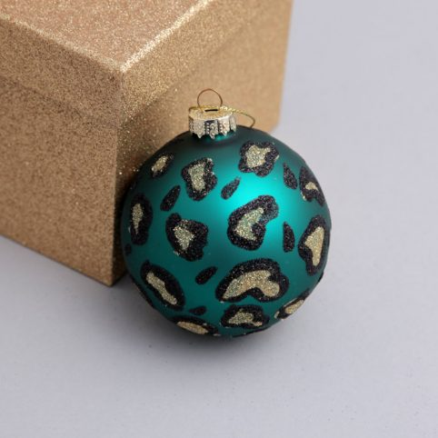 Leopard Print Decoration In Teal - Buy Online UK