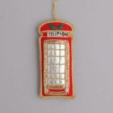 Embroidered Telephone Box Decoration - Purchase Online UK