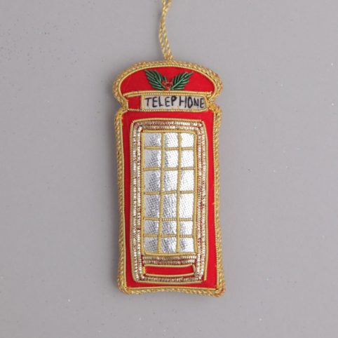 Embroidered Telephone Box Decoration - Purchase Online UK