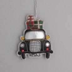 Embroidered Black Taxi London Decoration - For Sale Online Uk