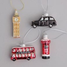 Four London Icon Christmas Decorations Purchase Online With Free UK Delivery Over £20