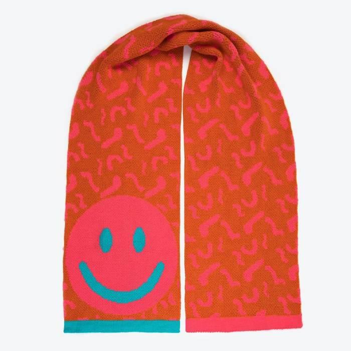 Smiley face scarf - Miss Pompom