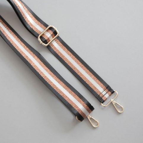 Stripe Print bag strap