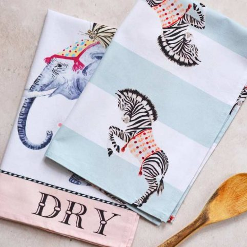 Yvonne Ellen Tea Towels - Set of 2 Buy Online With Free UK Delivery Over £20