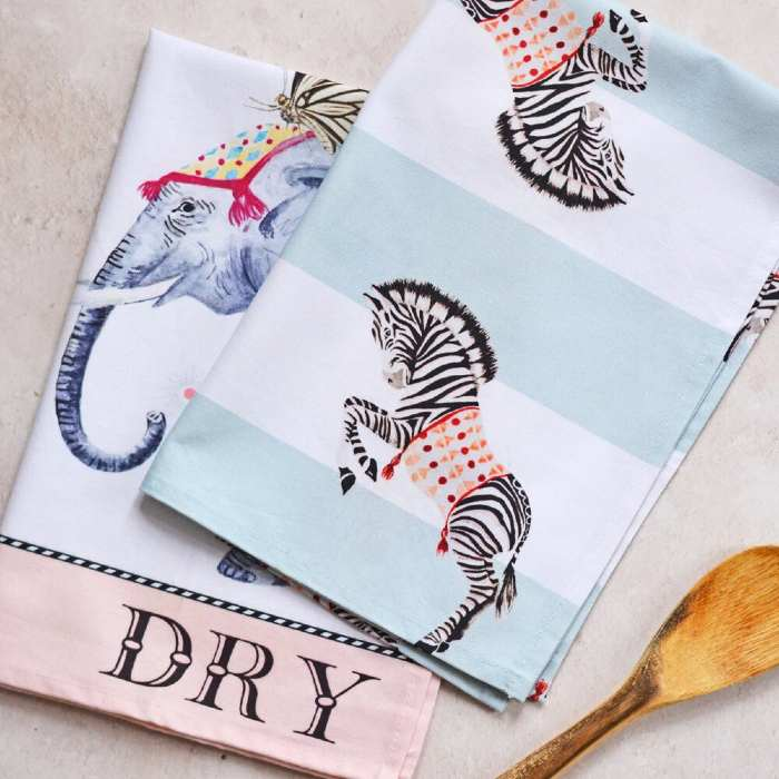 Yvonne Ellen Tea Towels - Set of 2 Buy Online With Free UK Delivery Over £20
