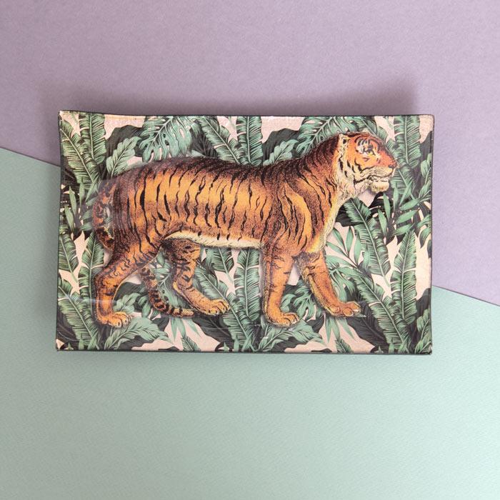 Tiger Glass Trinket Dish - Buy online UK