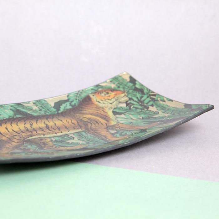 Rectangular Glass Trinket Dish - Buy Online UK