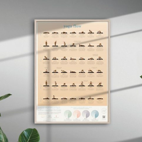 Calm Club Yoga Poster from Luckies of London. Buy Online UK