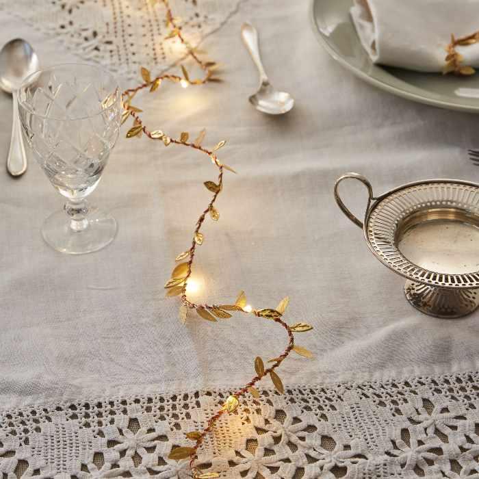 Gold Leaf String Lights