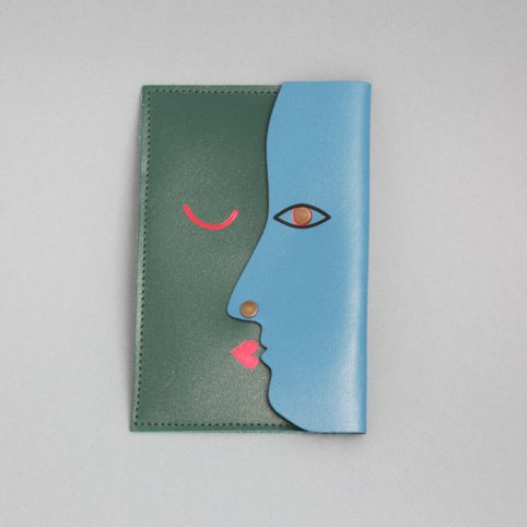 Kiss Leather Clutch - Buy Online UK