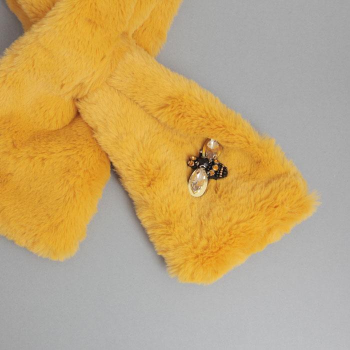 Sixton Yellow Fur Collar - Buy Online UK