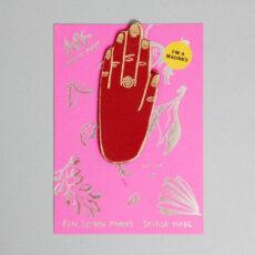 Ark Colour Design Dark Red Hand Magnet