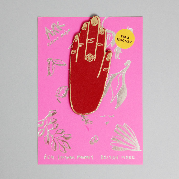 Ark Colour Design Dark Red Hand Magnet