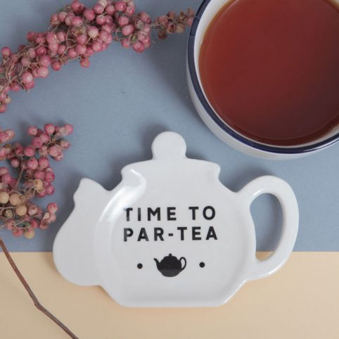 Tea Bag Holder Time To Par-Tea. Buy Online With Free UK Delivery Over £20