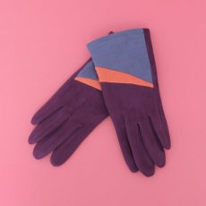 Powder Faux Suede Gloves Ziggy