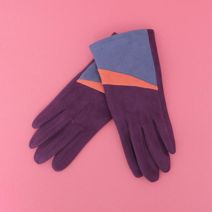 Powder Faux Suede Gloves Ziggy